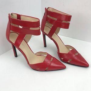 Nine West Women's Red Trisha Pointy Toe Pumps - 6